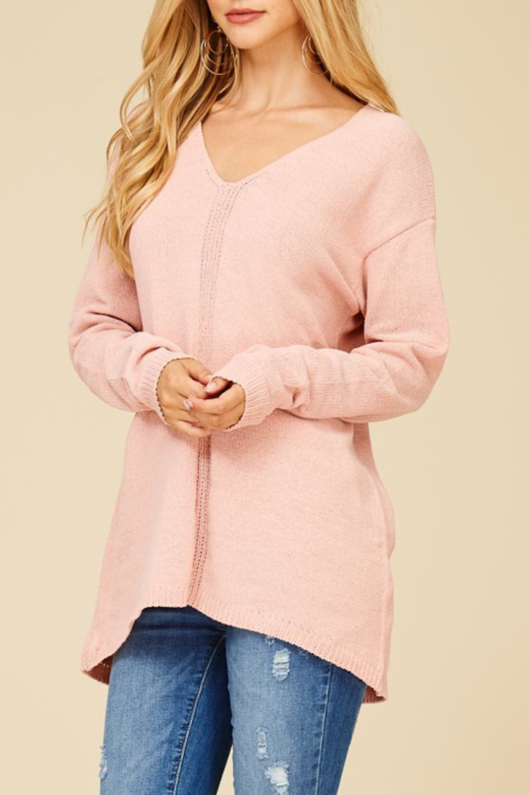Staccato Make Me Blush Top - Back Cropped Image