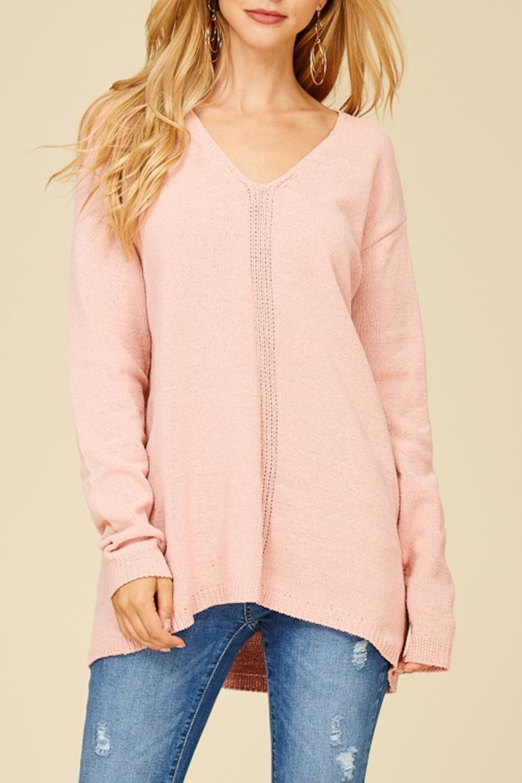 Staccato Make Me Blush Top - Front Full Image