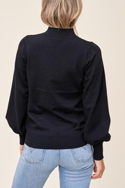 Staccato Mock Balloon-Sleeve Sweater - Side cropped