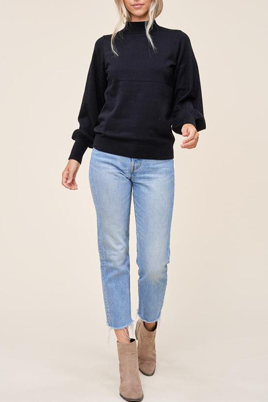 Staccato Mock Balloon-Sleeve Sweater - Main Image