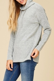 Staccato Mock Drawstring Sweater - Product Mini Image