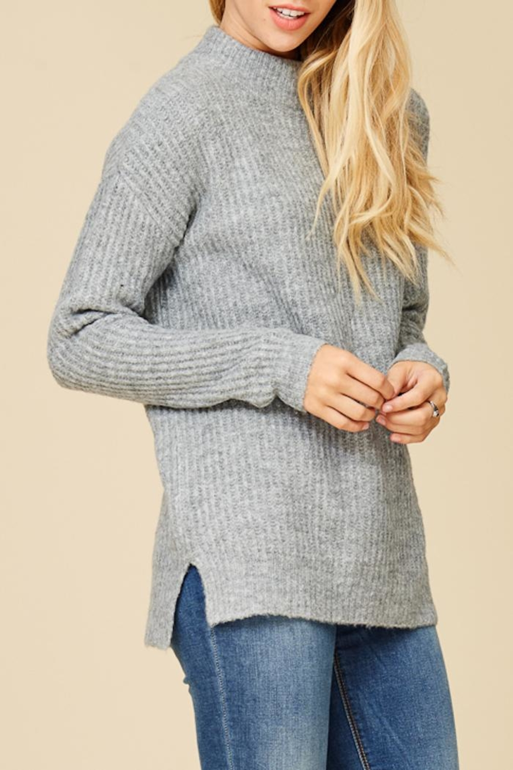 Staccato Mountain Cabin Sweater - Back Cropped Image