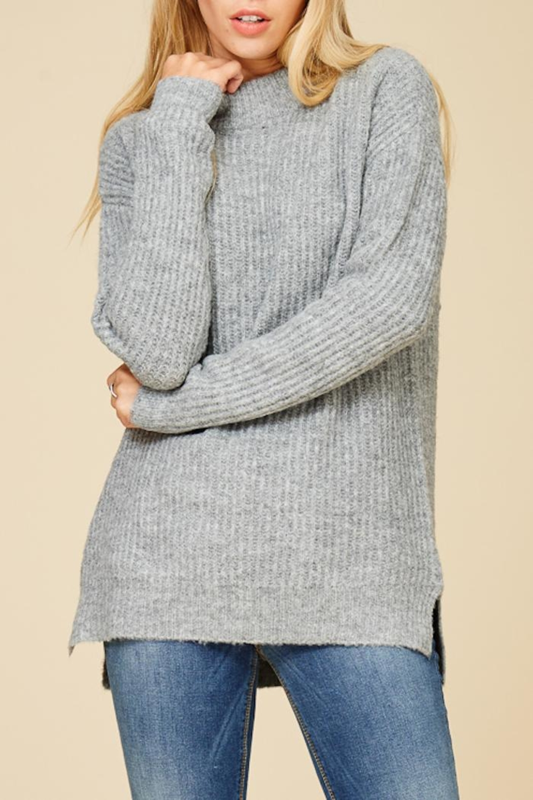 Staccato Mountain Cabin Sweater - Front Full Image