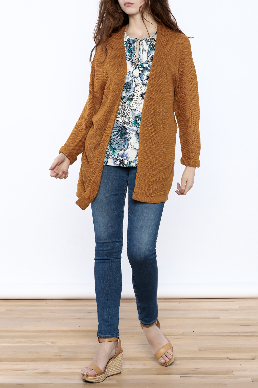 Staccato Mustard Sweater Cardigan from North Carolina by Magnolia ...