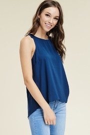 Staccato Navy Button Top - Product Mini Image