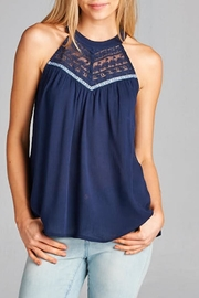 Staccato Navy Halter - Product Mini Image