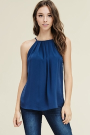 Staccato Navy Halter Tank - Product Mini Image