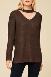 Staccato Neck Cutout Sweater - Product Mini Image