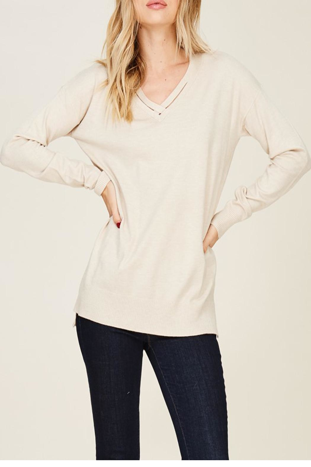 Staccato Oatmeal Sweater - Front Cropped Image