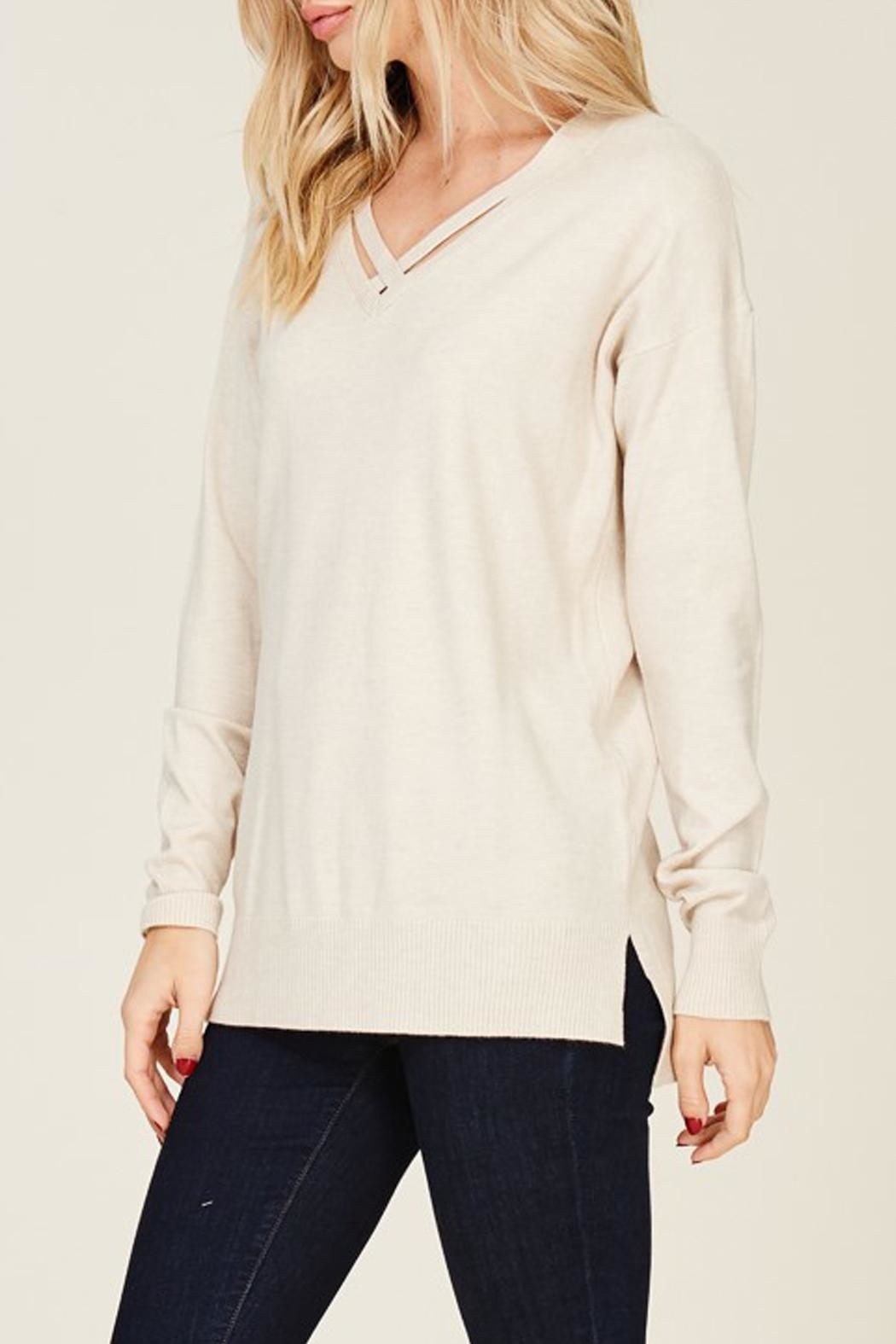 Staccato Oatmeal Sweater - Front Full Image