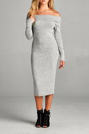 Staccato Off Shoulder Dress - Product Mini Image
