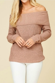 Staccato Off Shoulder Sweater - Product Mini Image