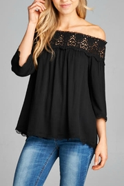 Staccato Off The Shoulder Top - Product Mini Image