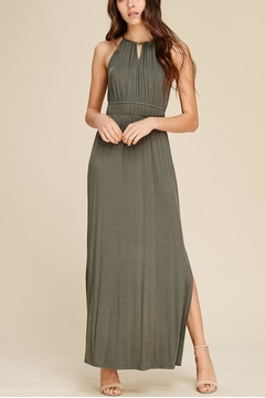 Staccato Olive Slit Maxi - Product List Image