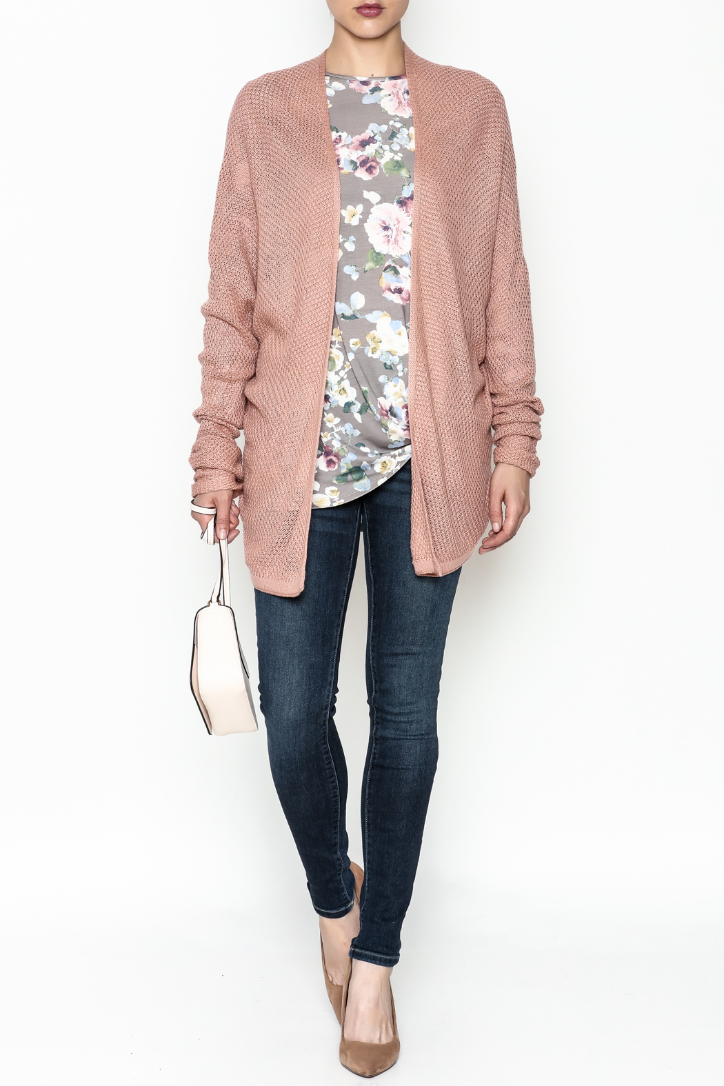 Staccato Open Front Cardigan - Side Cropped Image
