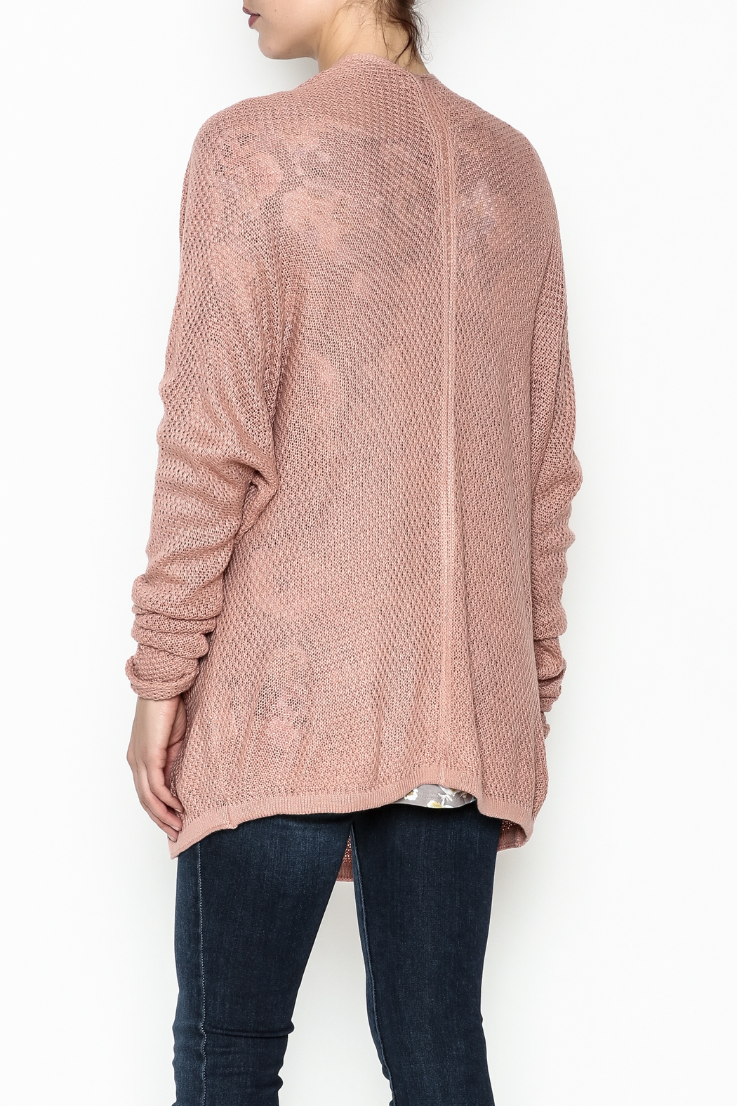 Staccato Open Front Cardigan - Back Cropped Image
