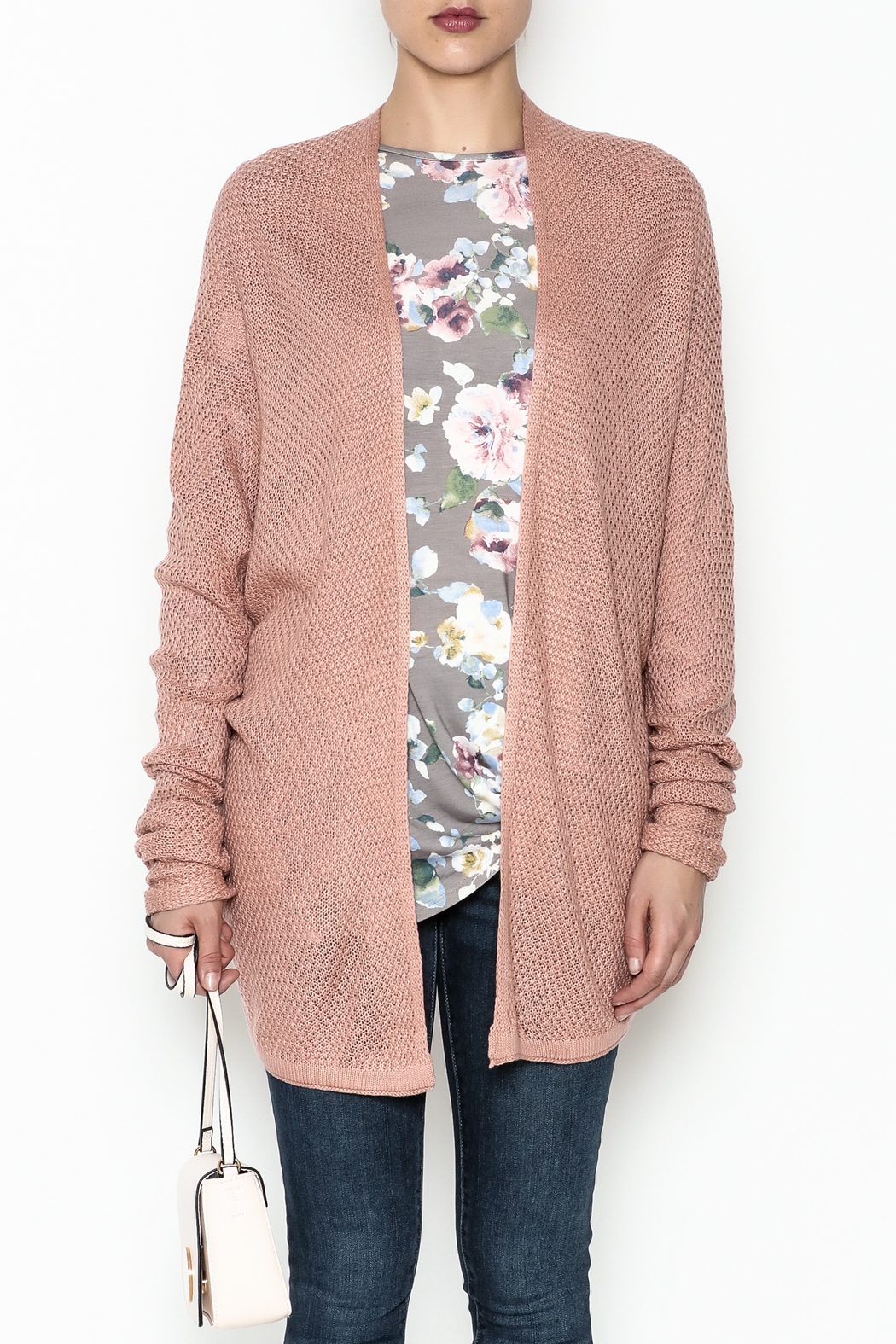 Staccato Open Front Cardigan - Front Full Image