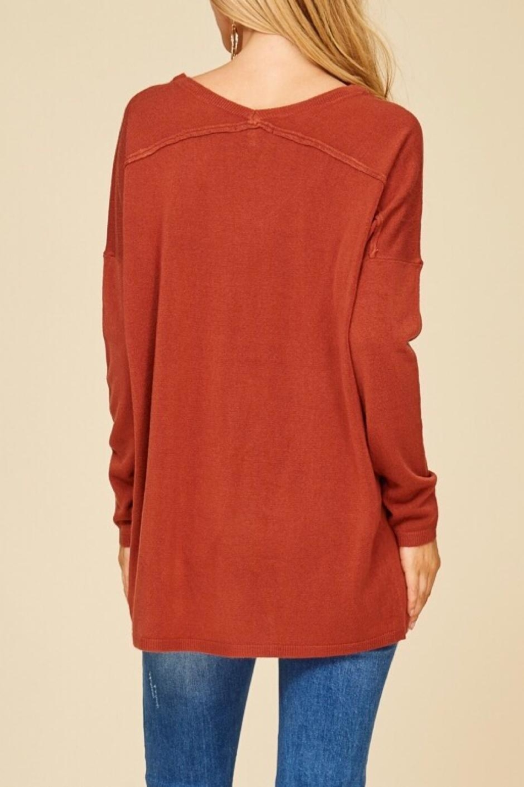Staccato Oversized Tunic Sweater - Back Cropped Image