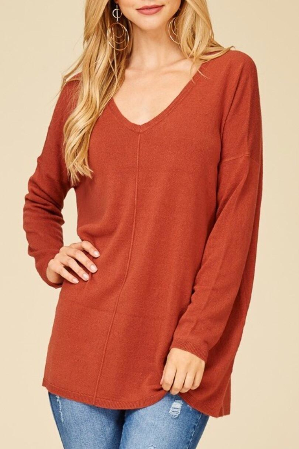 Staccato Oversized Tunic Sweater - Main Image