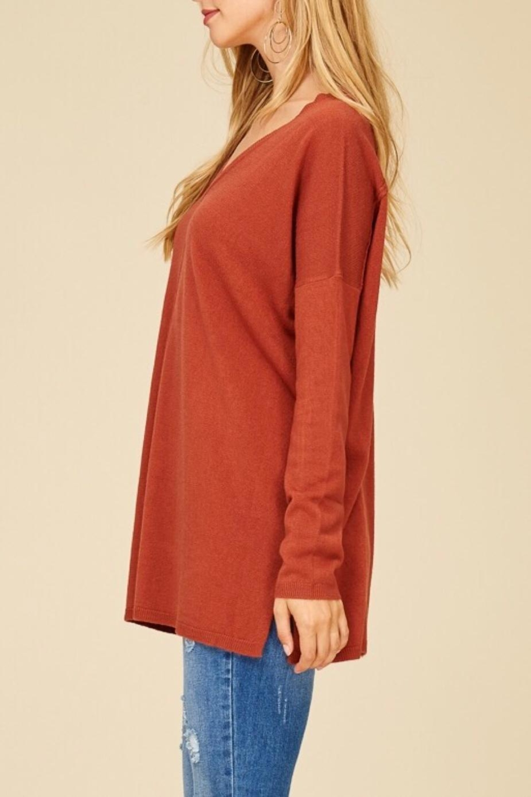 Staccato Oversized Tunic Sweater - Side Cropped Image