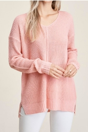 Staccato Peach Waffle Sweater - Product Mini Image