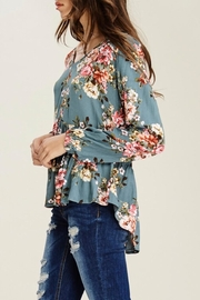 Staccato Peplum Floral Blouse - Front full body