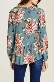 Staccato Peplum Floral Blouse - Back cropped