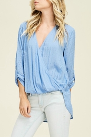 Staccato Periwinkle Wrap Top - Product Mini Image