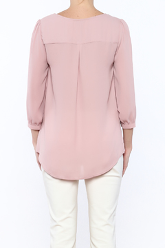 Shoptiques Product: Pink Cuffed Top