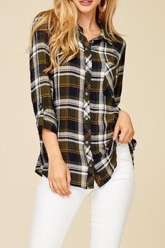 Shoptiques Product: Plaid Buttondown Top