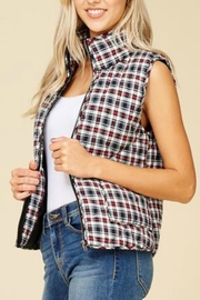 Staccato Plaid Zip-Up Vest - Product Mini Image