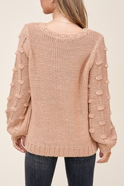 Staccato Pom Sleeve Sweater - Side cropped