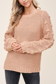 Staccato Pom Sleeve Sweater - Back cropped