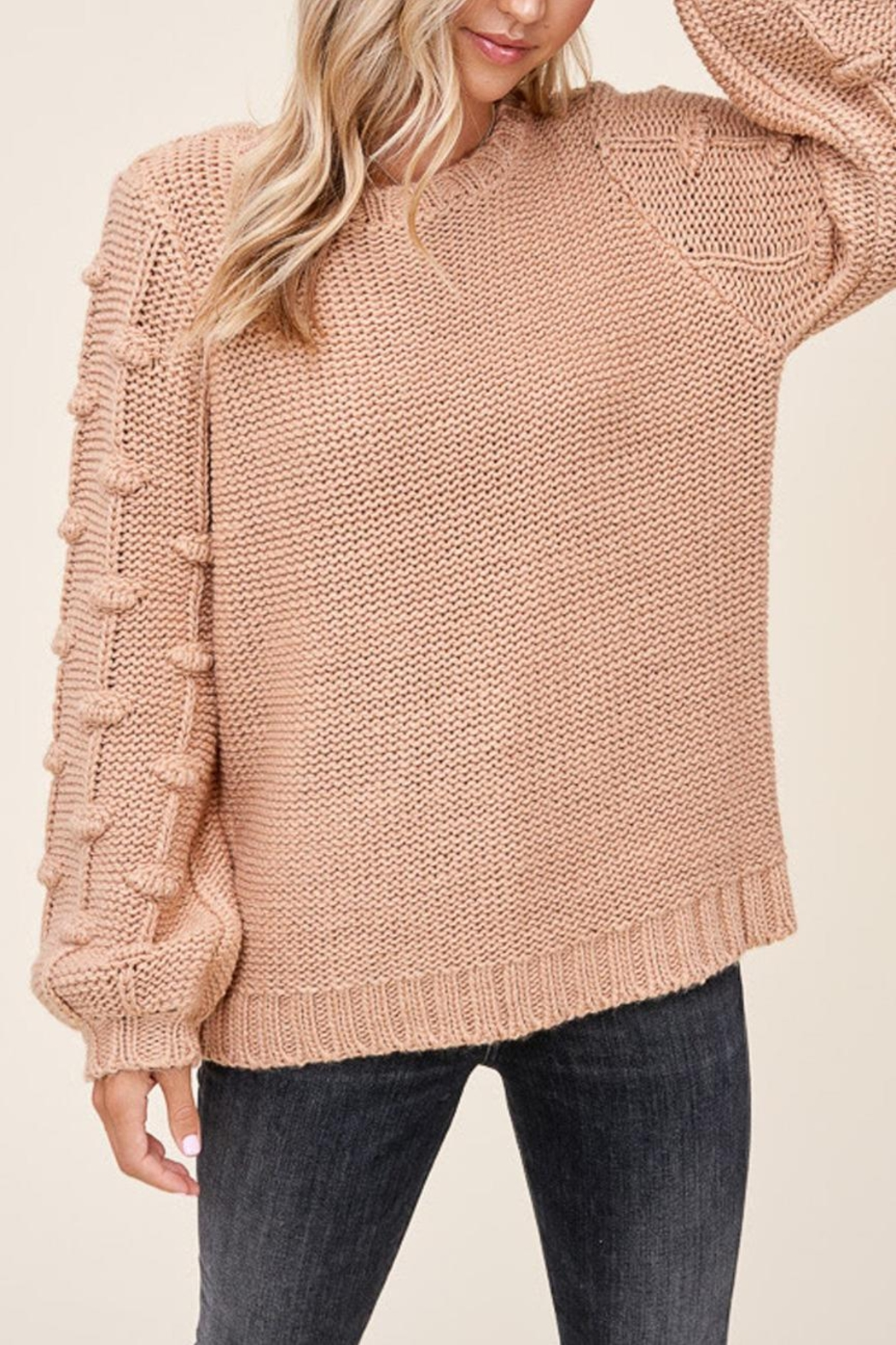 Staccato Pom Sleeve Sweater - Main Image