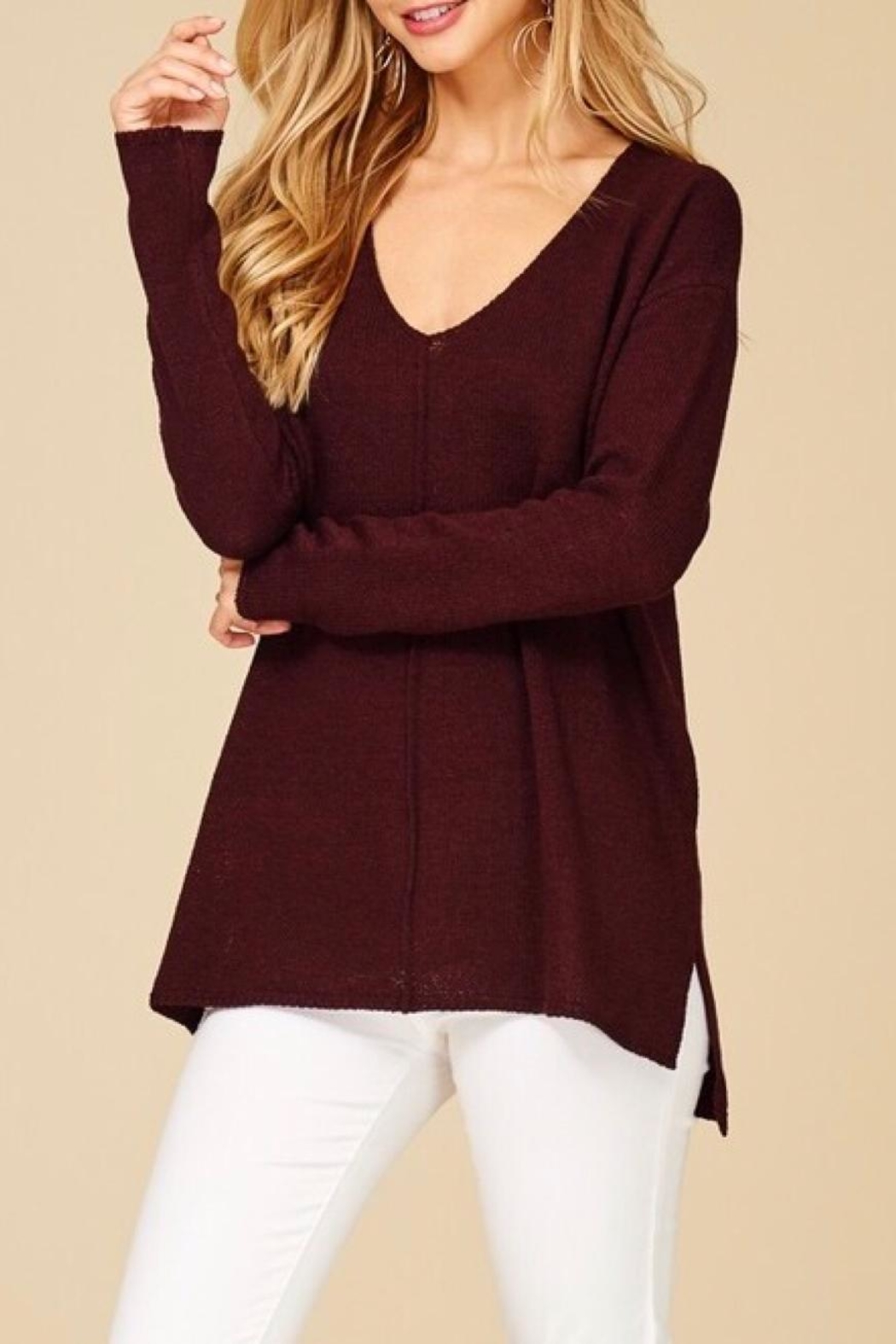 Staccato Pullover Texture Sweater - Side Cropped Image