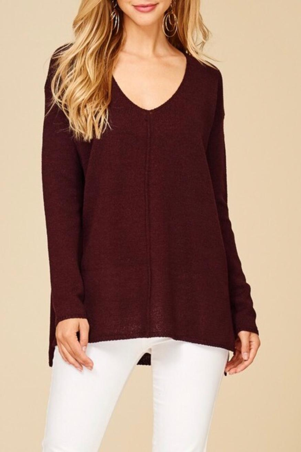 Staccato Pullover Texture Sweater - Main Image