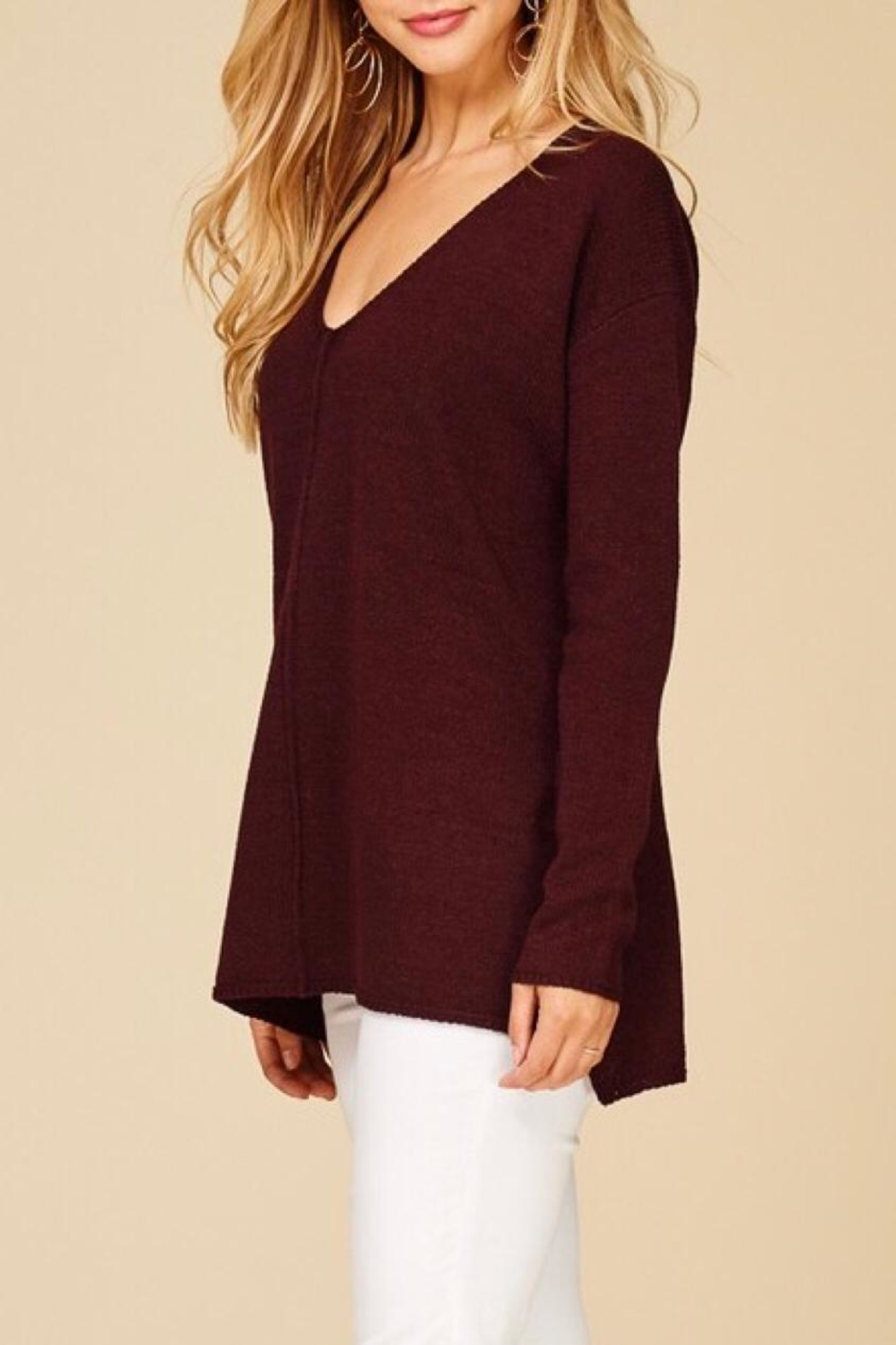 Staccato Pullover Texture Sweater - Front Full Image