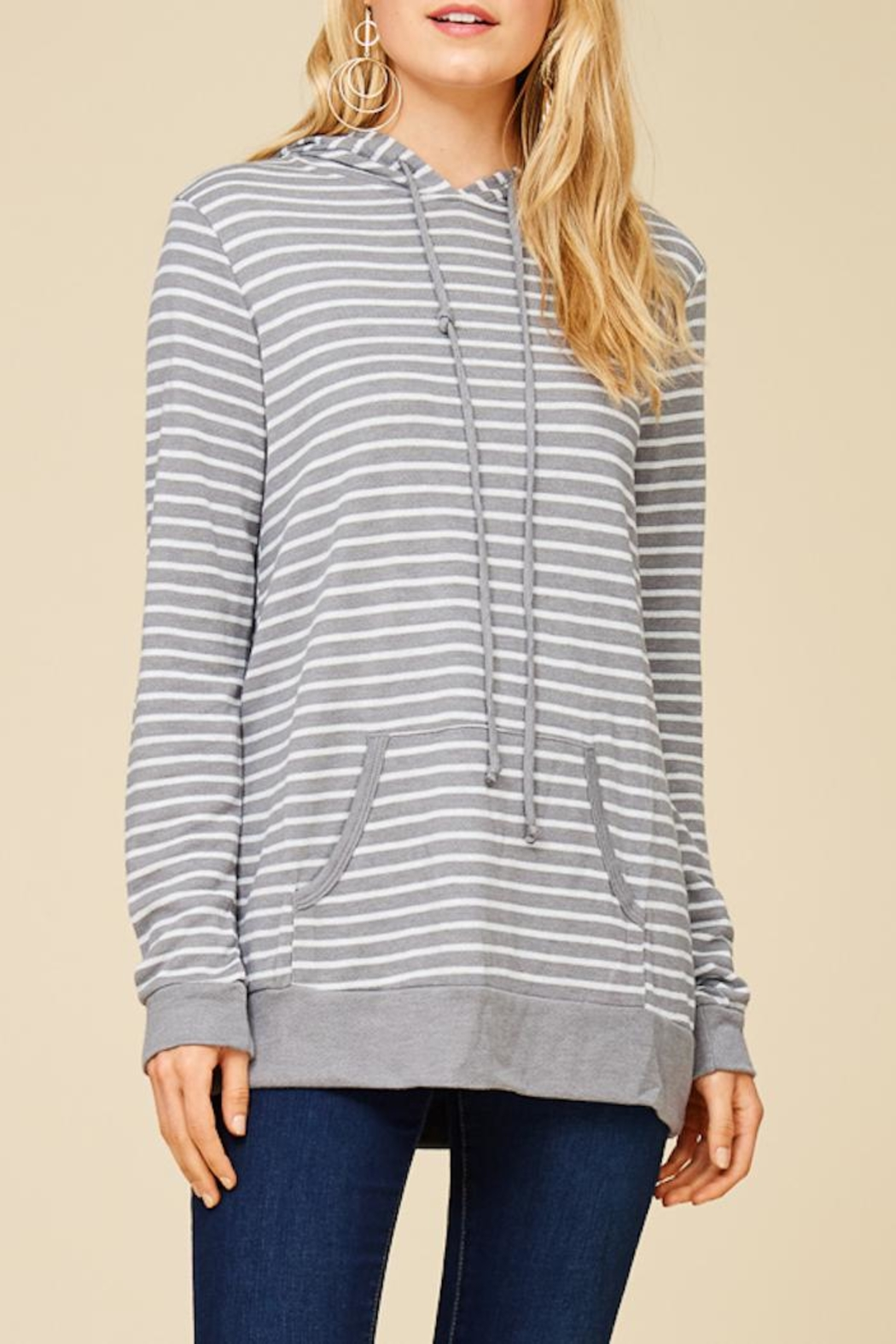 Staccato Round And Round Hoodie - Side Cropped Image