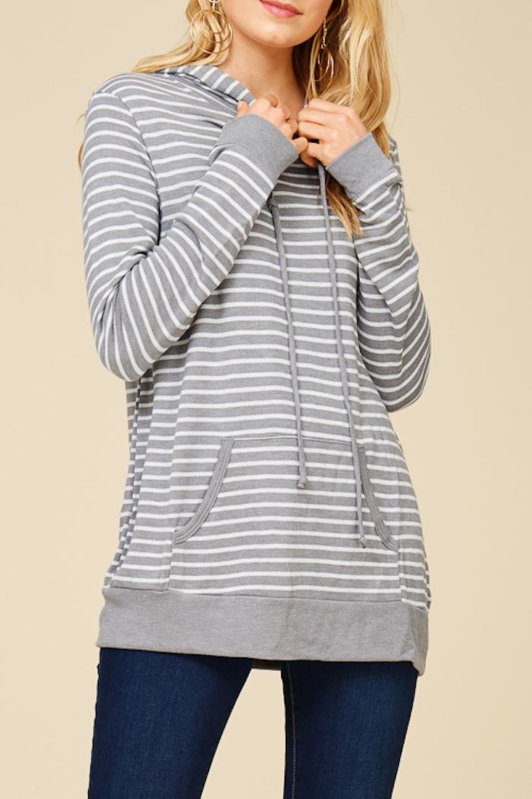 Staccato Round And Round Hoodie - Back Cropped Image