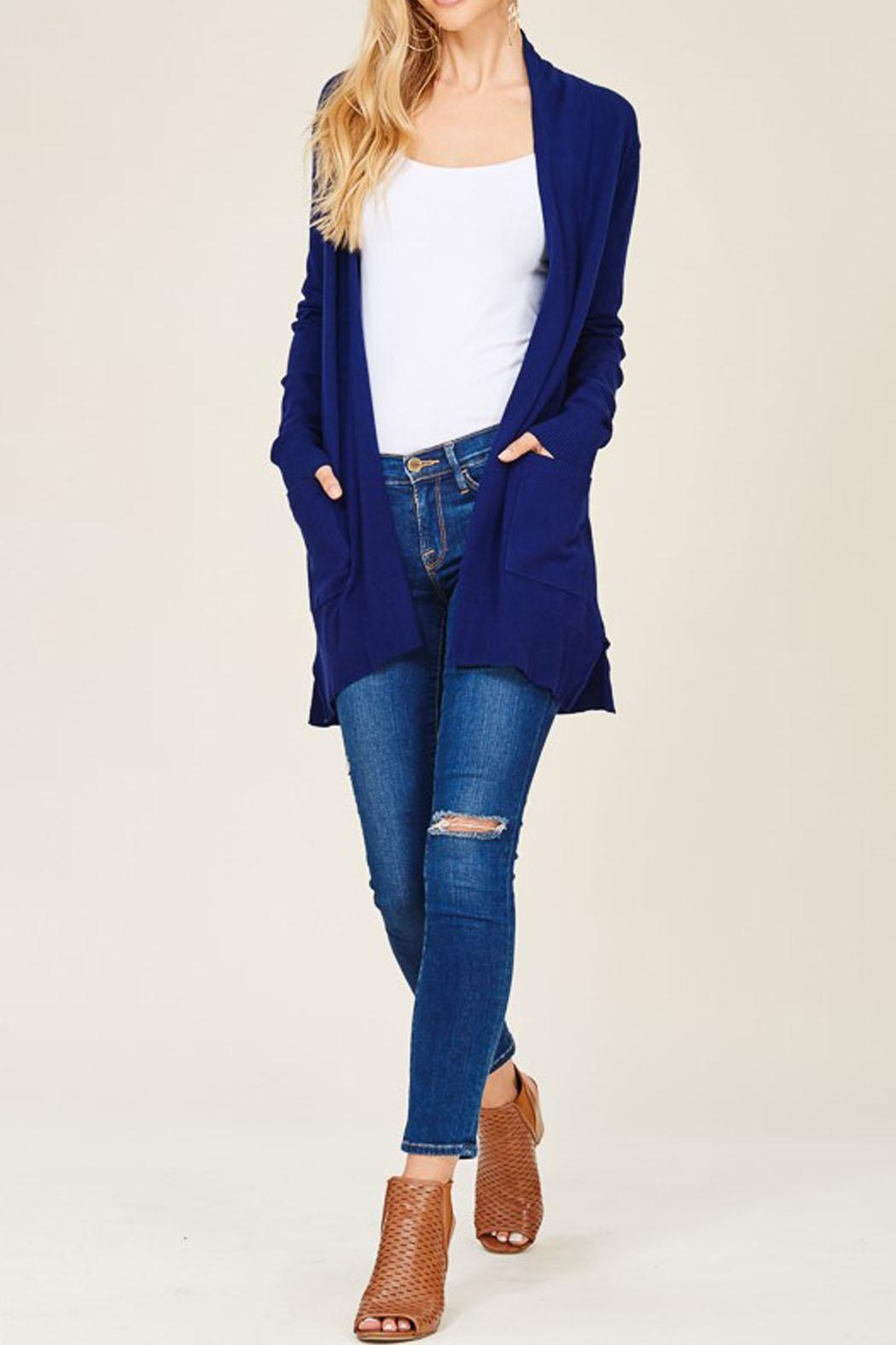 Staccato Royal Navy Cardigan - Front Full Image