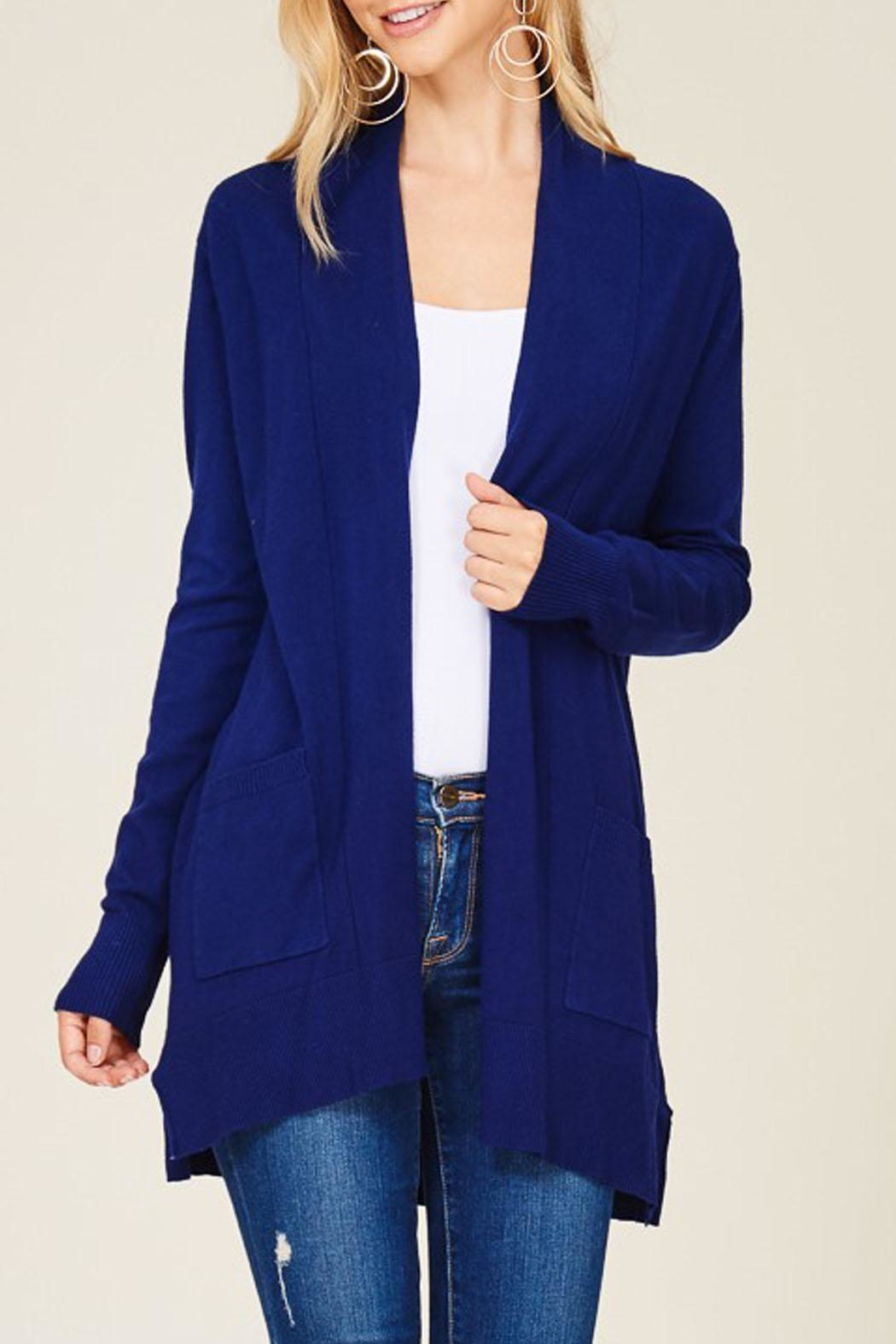Staccato Royal Navy Cardigan - Front Cropped Image