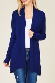 Staccato Royal Navy Cardigan - Front cropped