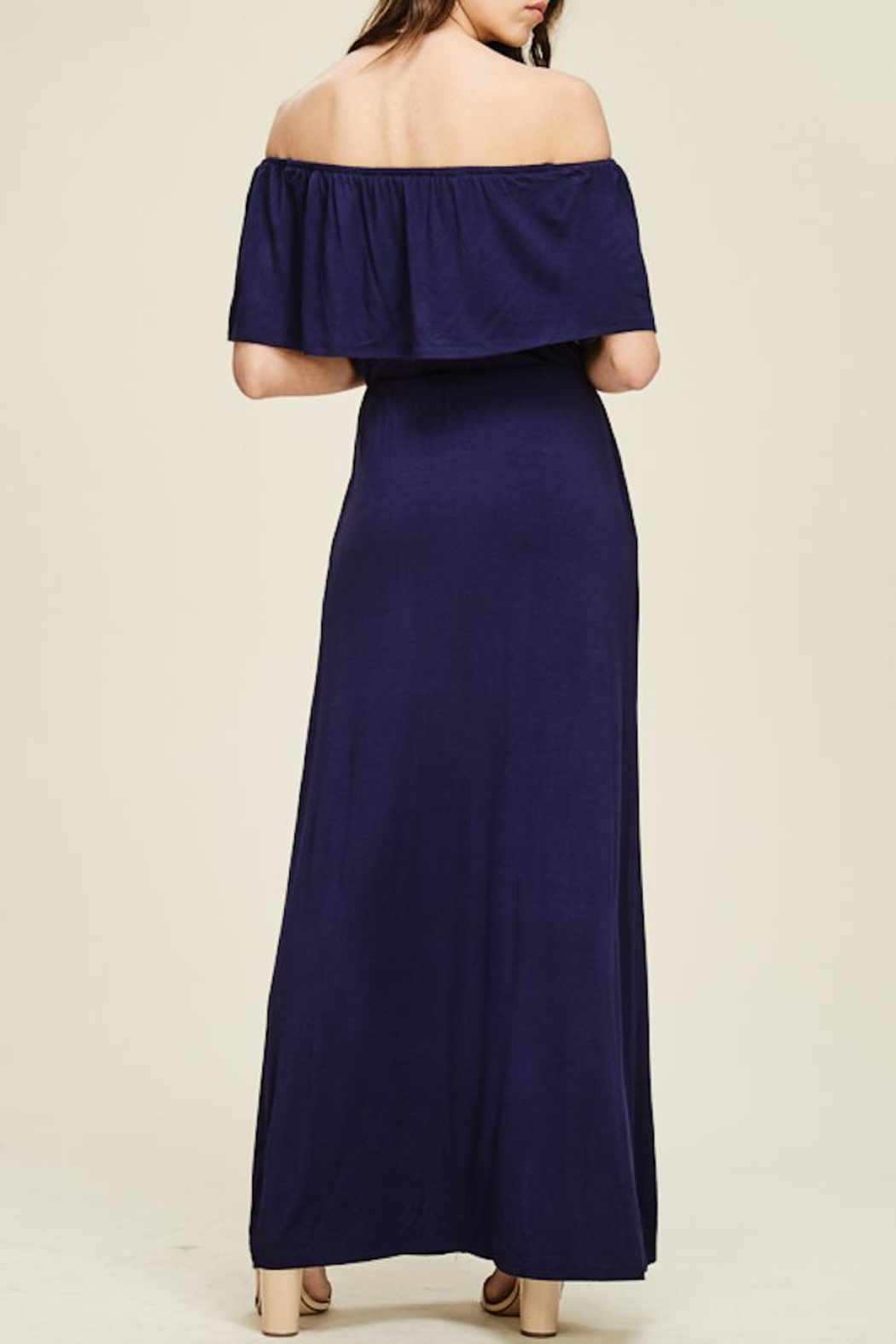 Staccato Ruffle Maxi Dress - Side Cropped Image