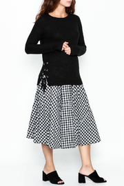 Staccato Knit Crew Sweater - Side cropped