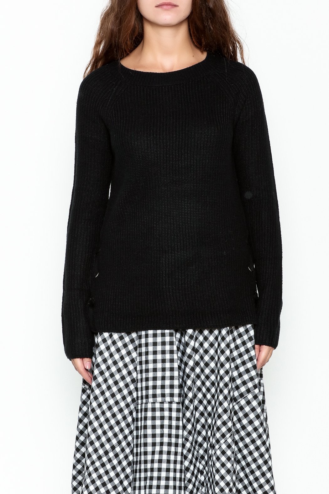 Staccato Knit Crew Sweater - Front Full Image