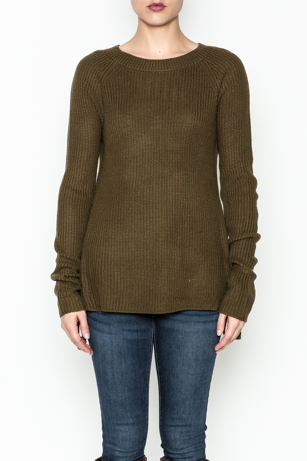 Staccato Side Lace Sweater - Front Full Image