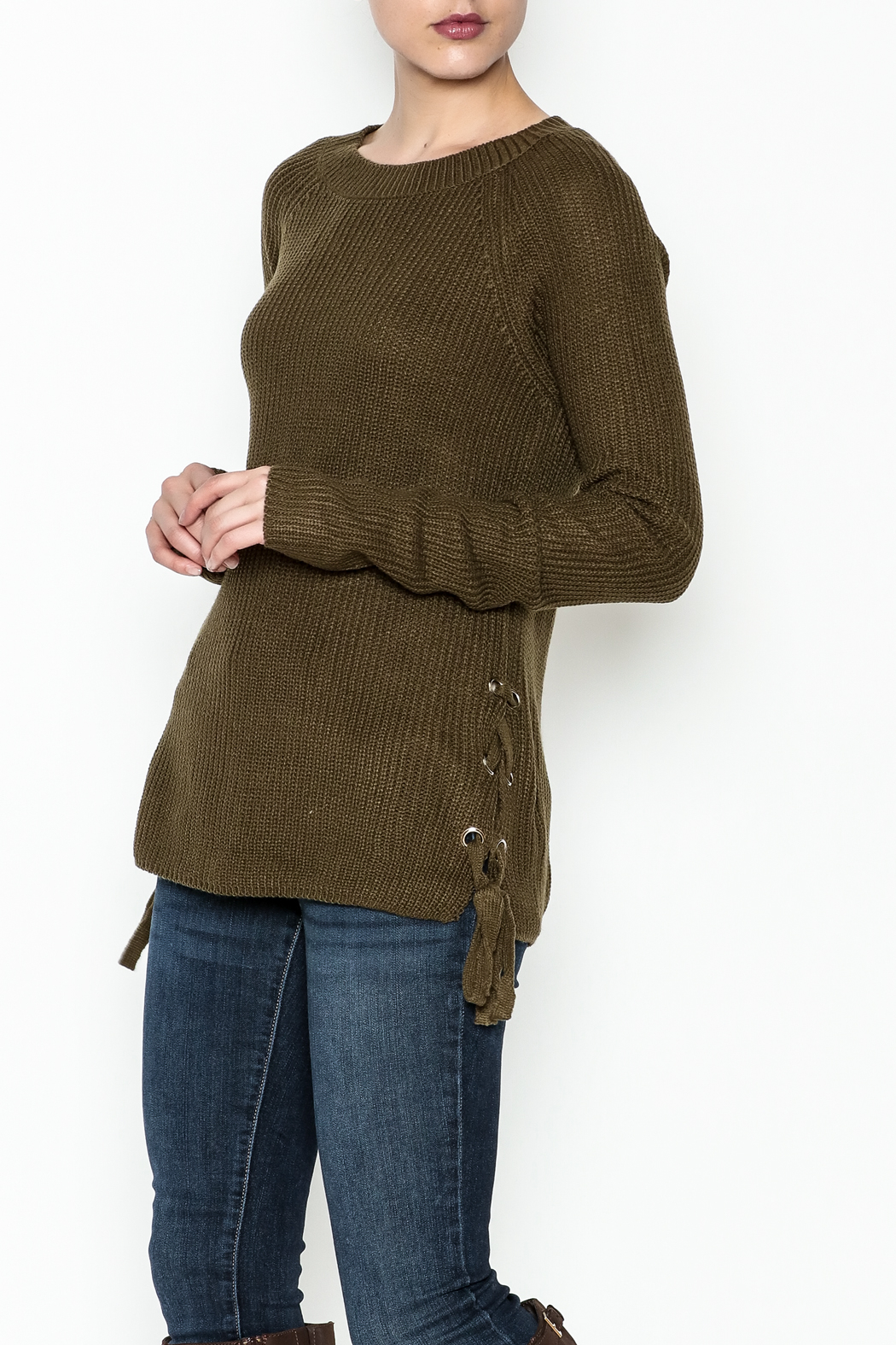 Staccato Side Lace Sweater - Main Image