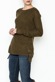 Staccato Side Lace Sweater - Front cropped