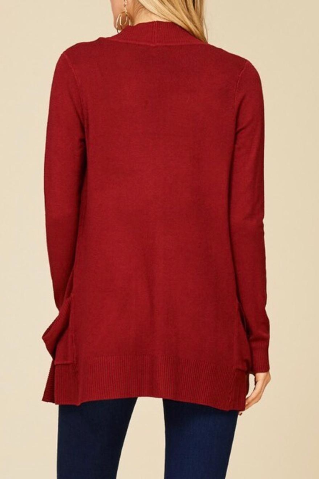 Staccato Simple Pocket Cardigan - Side Cropped Image