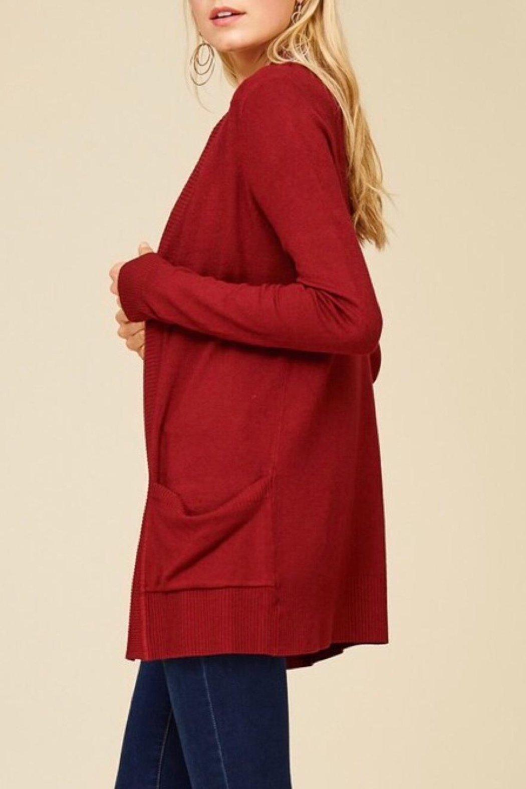 Staccato Simple Pocket Cardigan - Front Full Image